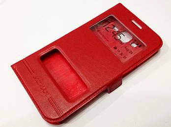 Чехол книжка Momax с окошками для Samsung Galaxy J5 j500 (2015) красный
