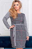 Платье женское демисезонное ангора 48-50,52-54 размеров,цвет серый