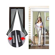 Сетка от комаров на двери 210 мм на 100 мм Magic Mesh, сетка от комаров, сетка в проем, сетка на двери -43%, фото 2