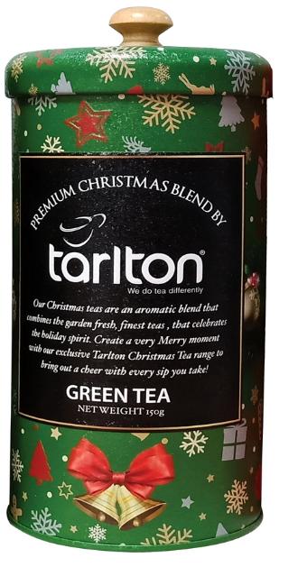 Зеленый чай в подарочной упаковке Тарлтон Зеленый бархат с саусепом 150 г в жестяной банке