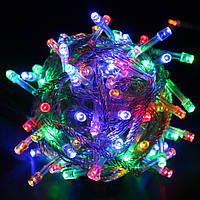 Гирлянда Xmas Led 100 мультицветная, светодиодная разноцветная гирлянда, фото 1