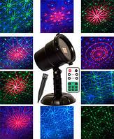 Новогодний уличный лазерный проектор 3 цвета, фото 1