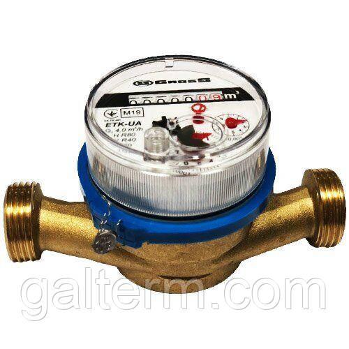 Лічильник холодної води Gross ETK(W)-UA 20/130 ø3/4 (R 80H/40V)