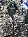 Жилетки маскировочные на флисе, 46 р и др., на молнии, осень - зима, на молнии, фото 3
