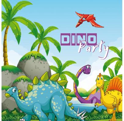Салфетки бумажные  детские Динозавры 10 шт