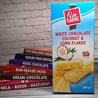 Шоколад белый Fin Carre (кокос и кукурузные хлопья) Германия 200г