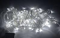 Гірлянда Led 100 White, світлодіодна біла гірлянда, фото 1