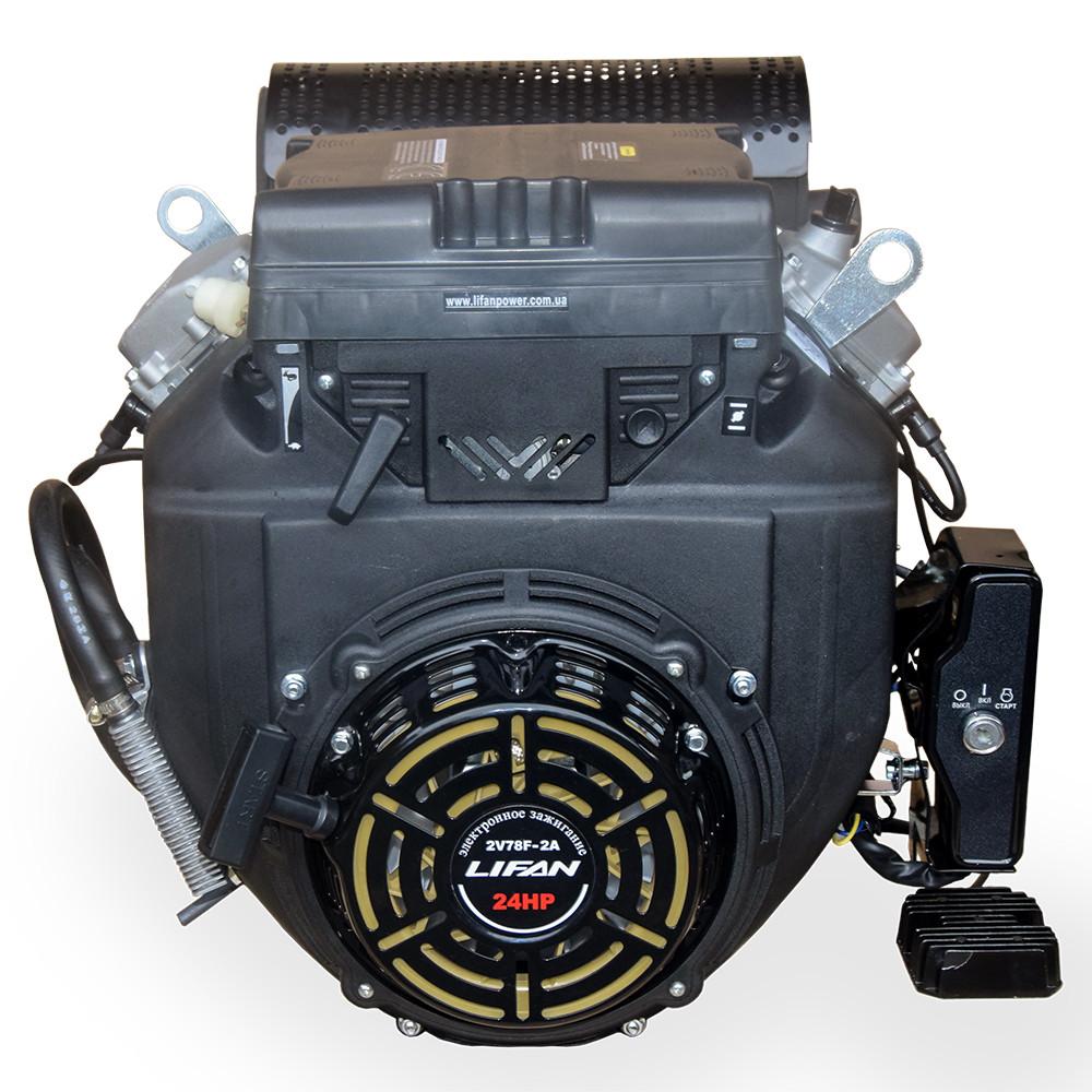 Бензиновий двоцилінровий двигун LIFAN 2V78F-2A 24 к. с