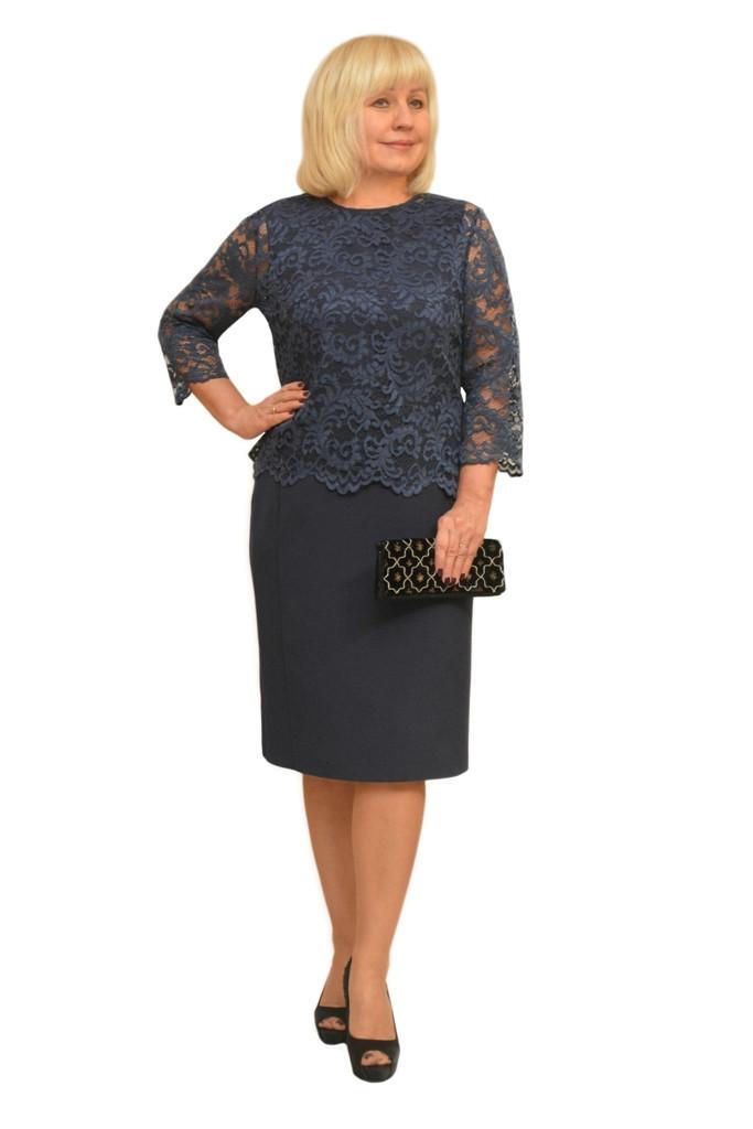 Платье+блузон - Модель Л303-4+Л310-3 ( 48 размер )