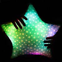 """Светящаяся подушка """"Новогодняя звездочка"""""""