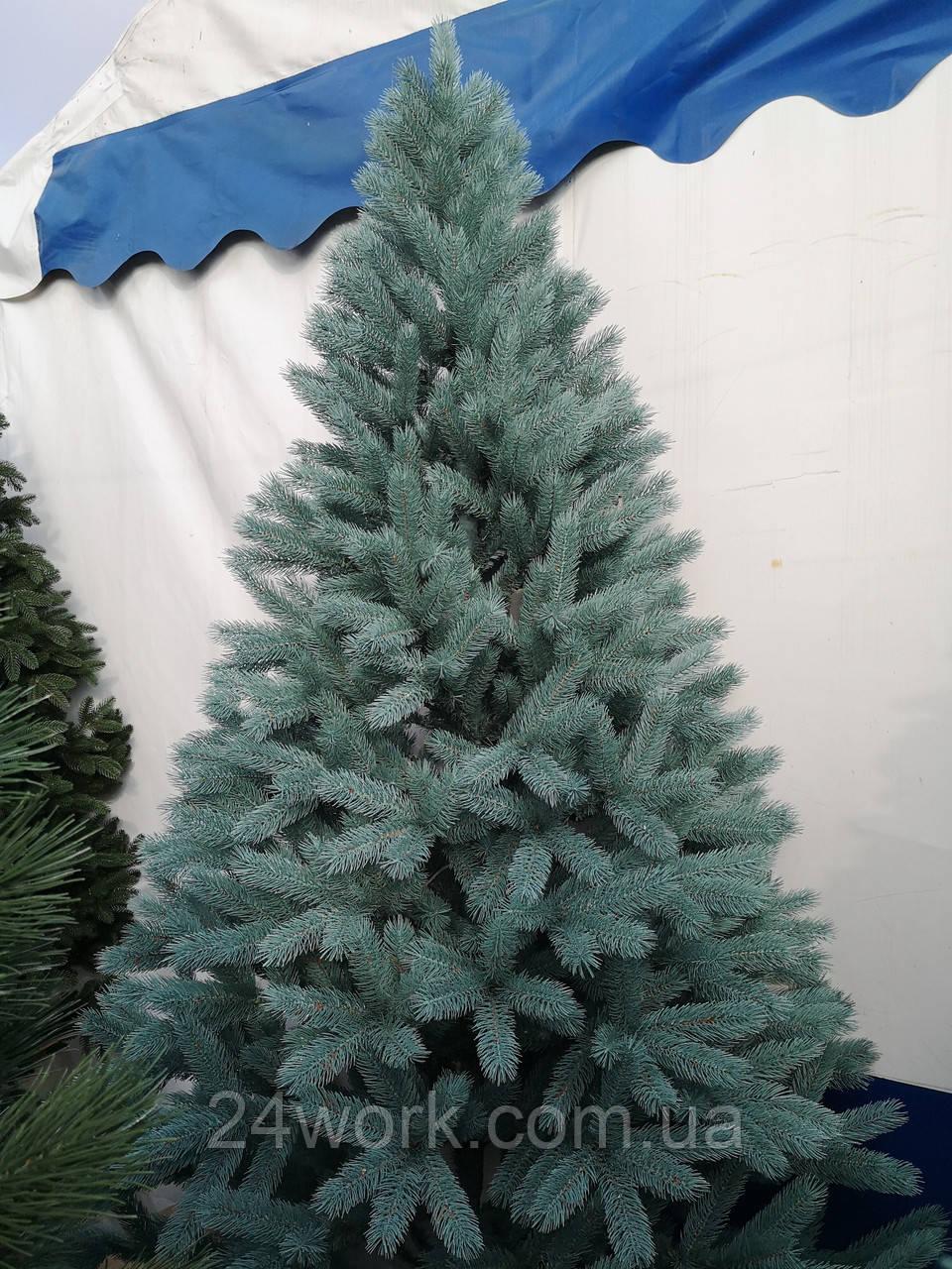 Ель искусственная литая голубая 1.8 м.