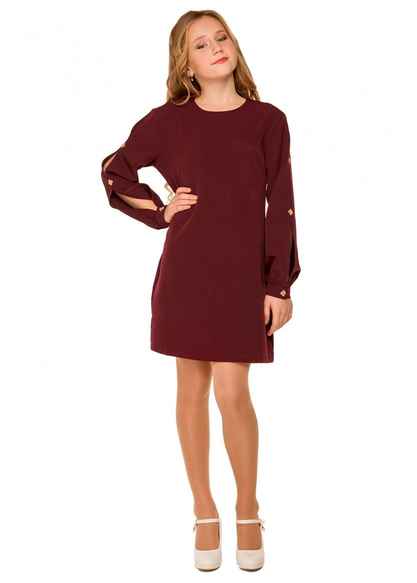 Детское нарядное платье Богдана, бордовый