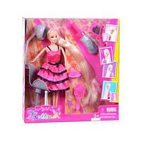 Кукла 68161 (24шт) 29см, парикмахерская, кресло, расческа, в кор-ке, 30,5-33-7см