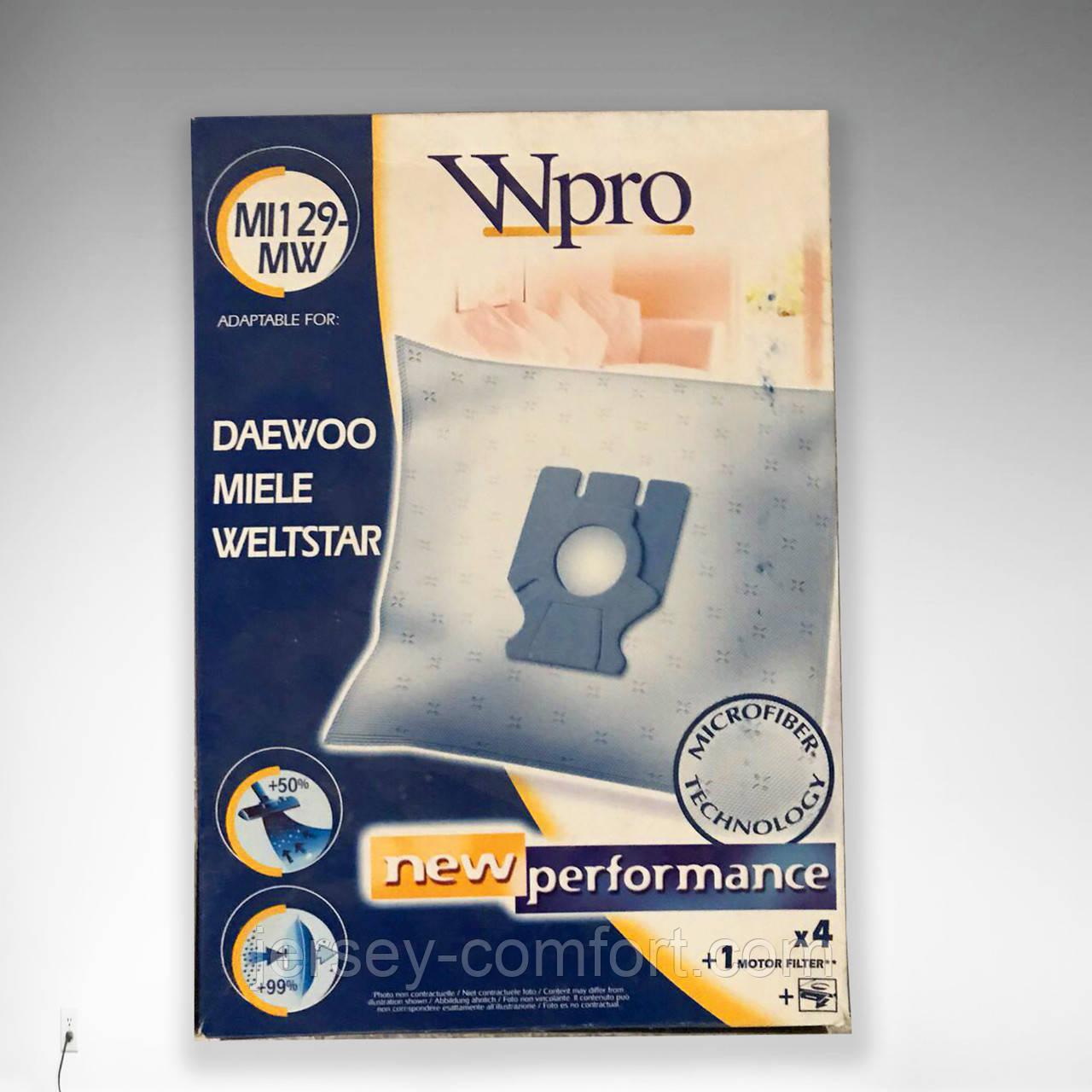 Мешки, пылесборники  для пылесосов MIELE   DAEWOO  WELTSTAR. MI129-MW