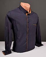 Мужская рубашка G-port с узором тёмно-синяя Турция 1043