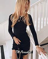 Женское платье люрекс черное 42-44 46-48, фото 1