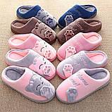 """Тапочки домашні кімнатні жіночі """"Котик"""". Тапки теплі зимові 34-35 р. (рожеві), фото 8"""