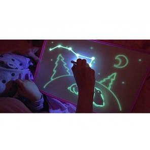 Малюй Світлом Дошка A3 (3345) для малювання світлом у темряві. Планшет Набір Малювання в темряві, фото 2