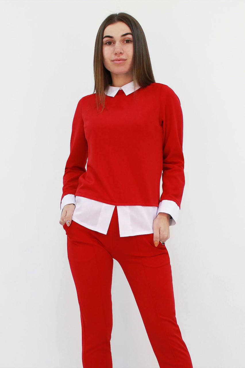 S | Молодіжний класичний костюм Nevil, червоний