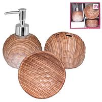 """Набор аксессуаров для ванной комнаты 3пр. S&T """"Бук"""" 889-06-002"""