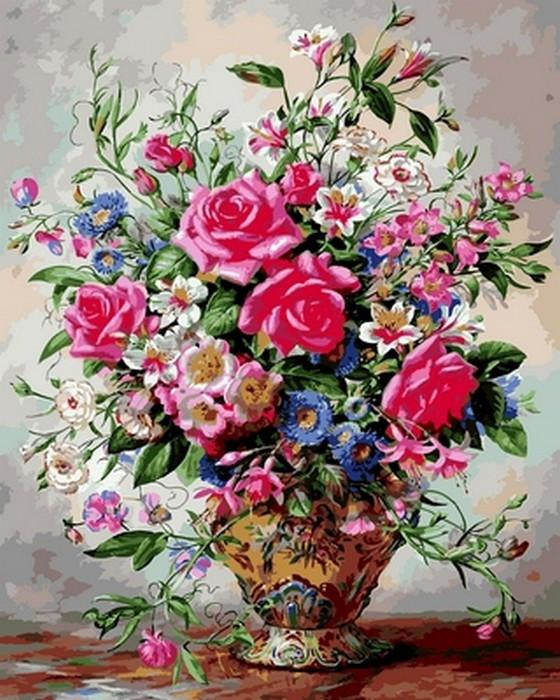 Картина по номерам 40х50см Babylon Turbo Розы и лилии