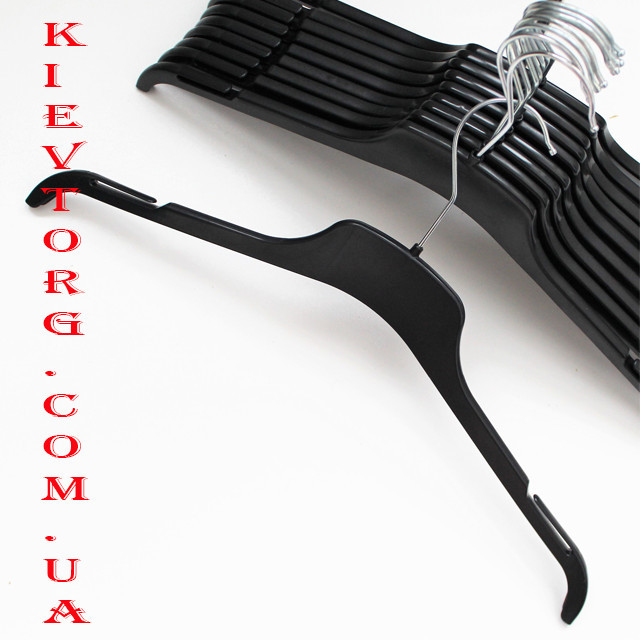 Плечики вешалки тремпеля прочные для легкой верхней одежды, трикотажа, 43 см