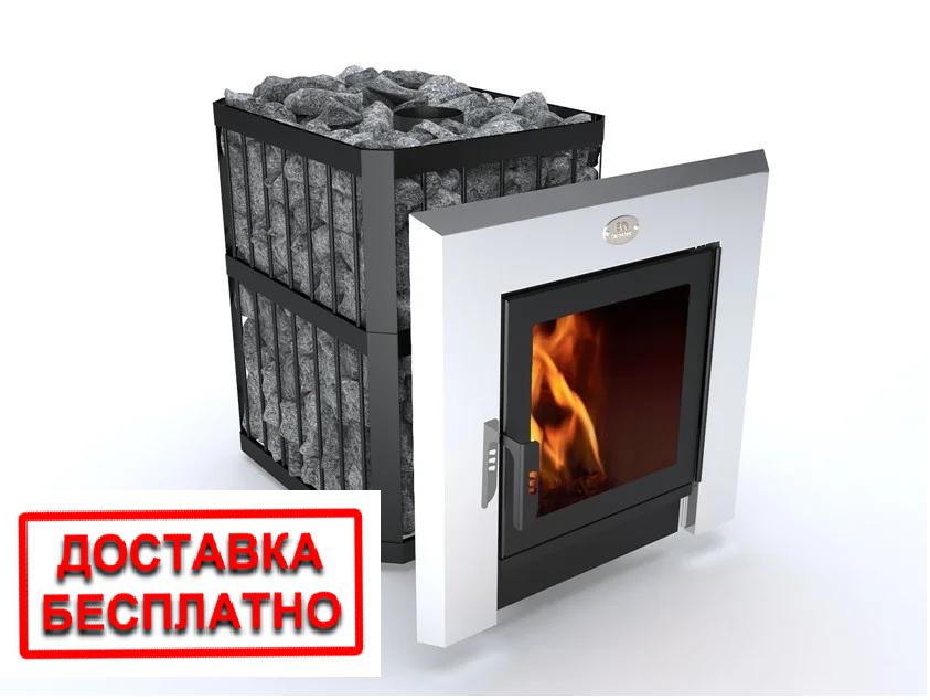 Печь-каменка «Пруток-Панорама» на 26 м.куб, печь для бань. Доставка по Украине.