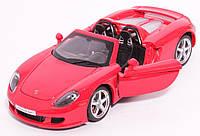 Металическая модель машины Автопром Porsche Carrera GT, открываются двери, капот, багажник, 1:24, звук, свет, фото 1