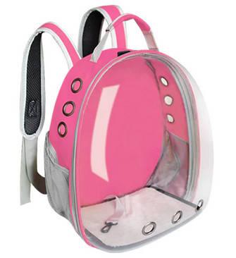 Рюкзак с иллюминатором для транспортировки кошек, дышащий прозрачный рюкзак для домашних животных, фото 2