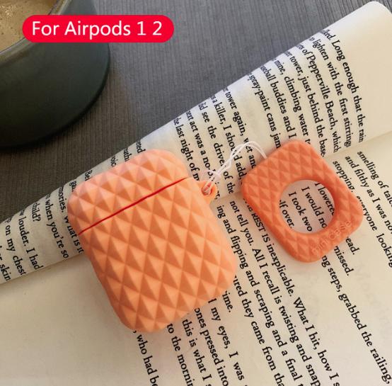 Чехол IQEA для наушников Apple AirPods TWS i10 i12 i13 Bluetooth Silicone Case Цвет оранжевый
