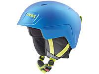 Горнолыжный шлем Uvex Junior Manic Pro Blue Lime Met Mat 2020