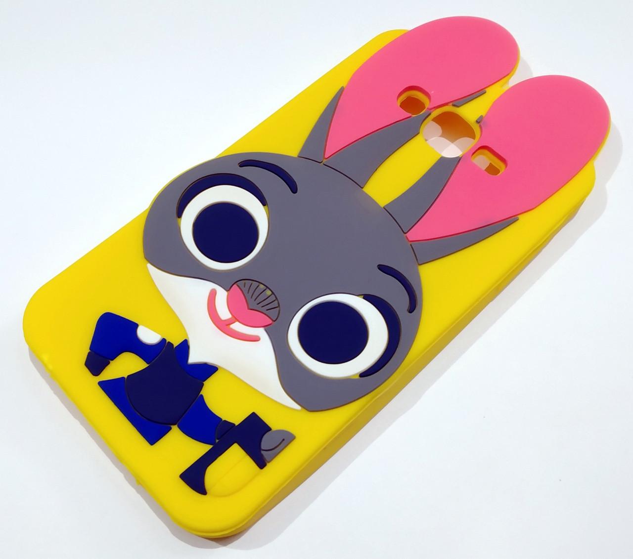 Чехол детский для Samsung Galaxy J7 j700 (2015) / J7 Neo j701 силиконовый игрушка зайчик Джуди желтый
