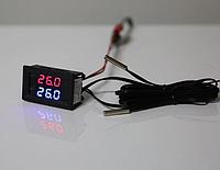 Термометр з двома датчиками, LED дисплеєм і двома щупами - червоний синій