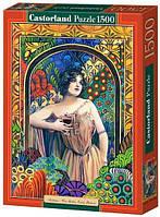 Пазл Castorland Девушка с бокалом вина 1500 элементов 0847 (tsi_23572)