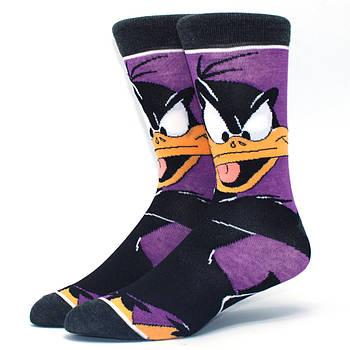 Мультяшные высокие мужские носки Даффи Дак