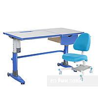 Комплект подростковая парта для школы Ballare Blue + подростковое кресло Ottimo Blue FunDesk
