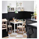 IKEA LERHAMN Стол, яркое пятно патины, белое пятно, 74x74 см (604.442.59), фото 3