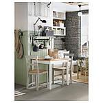 IKEA LERHAMN Стол, яркое пятно патины, белое пятно, 74x74 см (604.442.59), фото 4