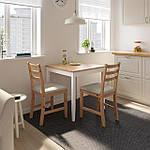 IKEA LERHAMN Стол, яркое пятно патины, белое пятно, 74x74 см (604.442.59), фото 6