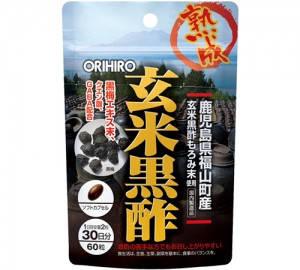 Orihiro черный уксус Moromi,  рисовый уксус, экстракт чернослива, GABA 60 капс на 30 дней.