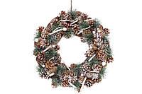 Новогодний декоративный венок 40см из натуральных материалов, BonaDi NY27-730