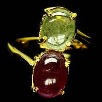 Кольцо СЕРЕБРО 925 Натуральный рубин желтый сапфир
