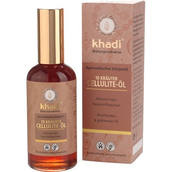 Антицелюлітне масло з 10 аюрведичних трав - Khadi 100ml