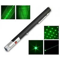 Лазерная указка 5 в 1 зеленый луч + насадки Laser