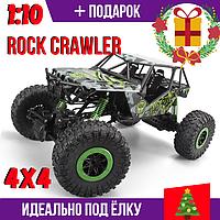Машинка на радиоуправлении 2.4GHz Rock Crawler 1:10 Полный привод 4X4 Зеленая RTR