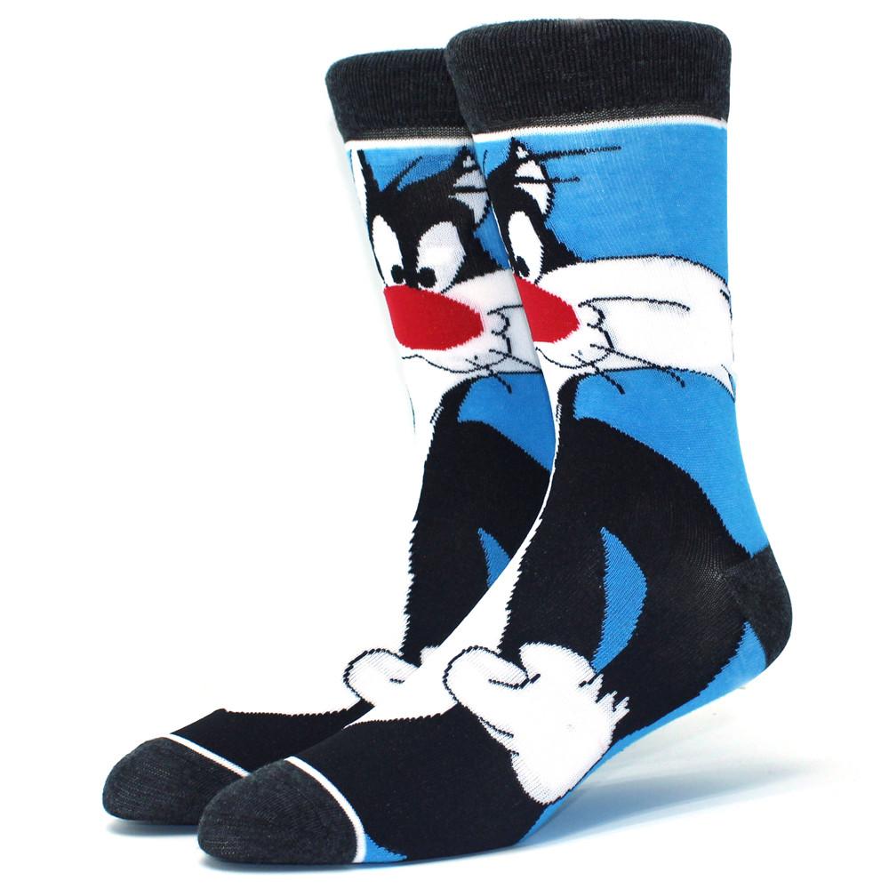Мультяшные высокие мужские носки кот Сильвестер