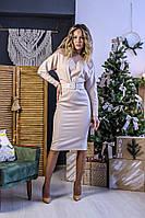 Женское платье миди с поясом, фото 1