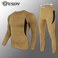 🔥 Комплект термобелья ESDY. Level-1 (койот) (флисовое термо-белье)
