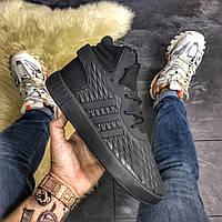 Мужские замшевые кроссовки Adidas Tubular Invader Black Metric