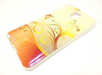 Чехол силиконовый с рисунком цветы для Samsung Galaxy Note 3 n9000